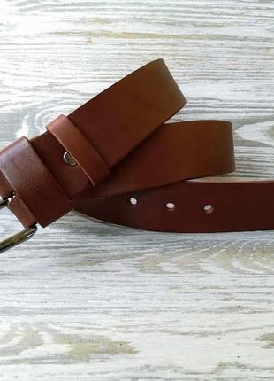 Мужской кожаный ремень светло-коричневый