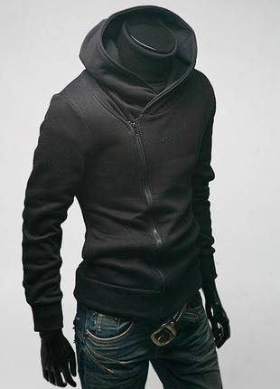 Балахон-реглан стильный мужской  m-xxl код 75  чёрный