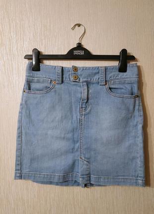 Милая джинсовая мини юбка gap размер m