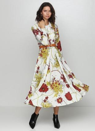 Платье  в цветочный принт gingier studio( размер 36-38)