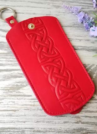 Ключница красный кельтский узел
