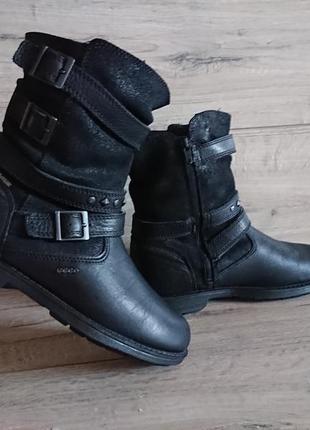 Ботинки берцы экко ecco 37 р 24,5 см кожа gore-tex мембрана