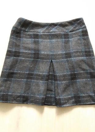 Теплая шерстяная юбка на подкладке