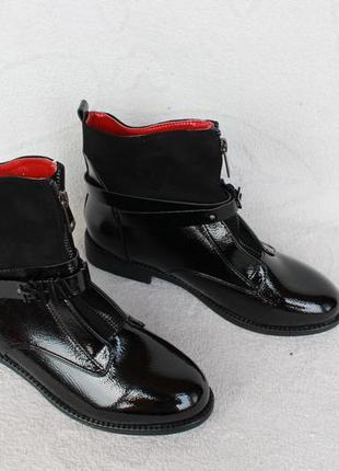 Демисезонные ботильоны, ботинки 39, 40 размера на низком ходу