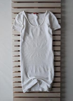 Белое натуральное платье edc