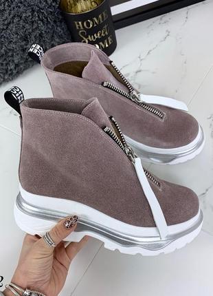Очень крутые ботиночки деми из натуральной замши в пяти расцветках
