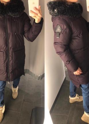 Бордовая куртка с капюшоном стеганое пальто еврозима amisu есть размеры