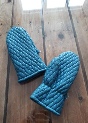 Очень классные варежки перчатки рукавицы из эко кожи