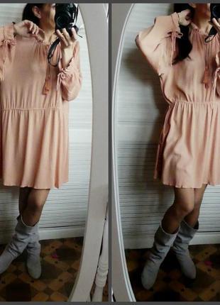 Платье-туника в стиле бохо,жатка h&m(44р  и меньше см.замеры)