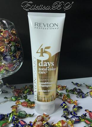 Revlon 45 days shampoo & conditioner golden blondes - шампунь-кондиционер для з