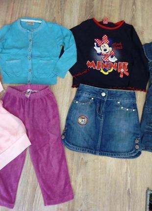 Мегараспродажа фирменной одежды! дешево!!! пакет на девочку 2-4 года.
