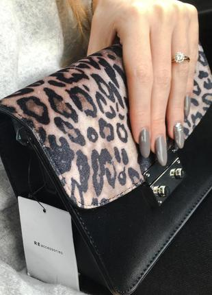 Сумка сумочка кросс боди леопардовая принт
