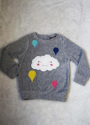 Супер качество!очень крутой милый свитер для девочки тучка флиска джемпер кофта