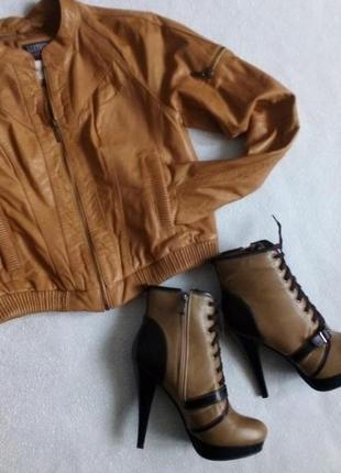 Курточка натуральная кожа куртка кожаная размер s