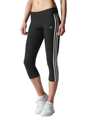 Спортивные леггинсы*лосины*капри adidas climalite ( размер 10-12)