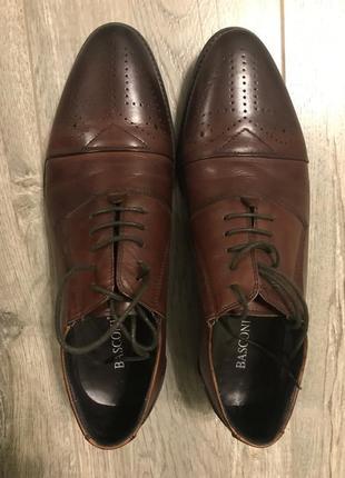 Туфли мужские натуральная кожа basconi