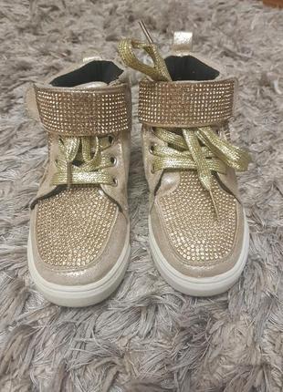 Детские ботинки кеды стразы сваровски