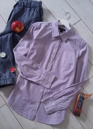 Мега стильная женская коттоновая рубашка в клетку..# 537
