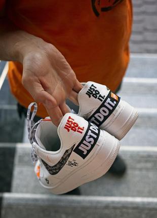 Шикарные кроссовки nike air foece 1 just do it (мужские/ женские), (весна/лето/осень)4