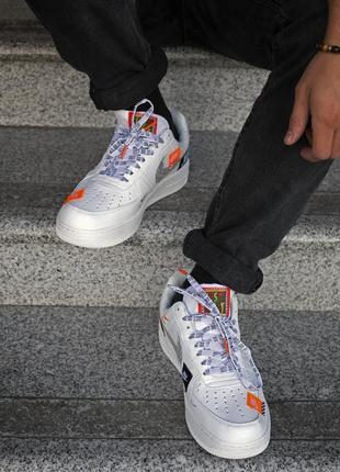 Шикарные кроссовки nike air foece 1 just do it (мужские/ женские), (весна/лето/осень)2