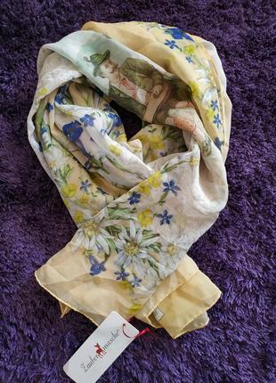 Оригинальный новый шелковый платок шарф палантин от немецкого бренда zaubermasche