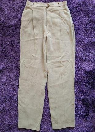 Плотные бежевые брюки от max mara