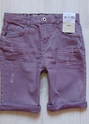 Denim co. размер 10-11 лет. новые стрейчевые джинсовые шорты для парня