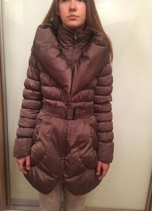 Легкое зимнее пальто пуховик для девочки от итальянского бренда maps girl xs-s