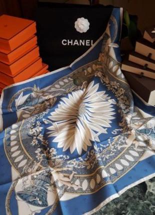 Шикарный платок hermes amours! 100% оригинал! редкий платок!