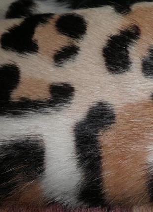 Изящный пышный шарф имитация гепарда mcgregory 116х10см качество! италия
