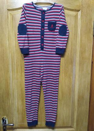 Трикотажный человечек, кигуруми, пижама на рост 122 см/6-7 лет