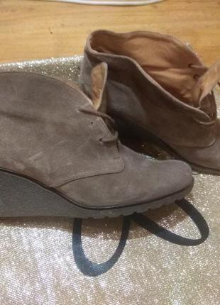 Замшевые деми ботинки 27см германия