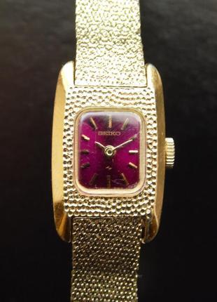Seiko миниатюрные механические часы в золотом тоне 11-3409 оригинал