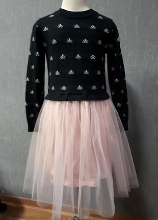 Модное платье с фатином р128-152