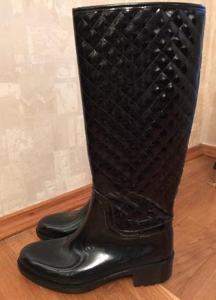 Модные стильные резиновые сапоги inblu удобные на нашу погоду 39 размер7