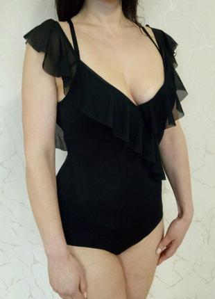 Шикарный черный боди от zara6 фото