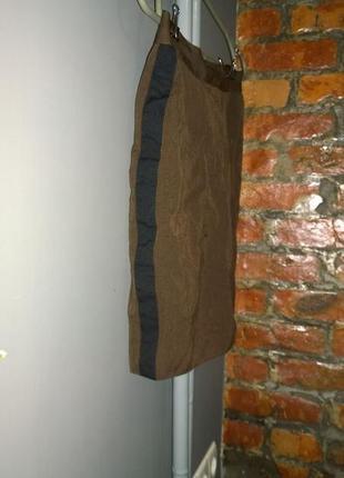 Юбка карандаш с лампасами из костюмной ткани
