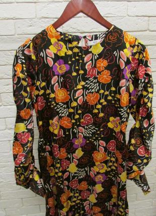 Миди платье  в роскошный принт -цветы mango5 фото