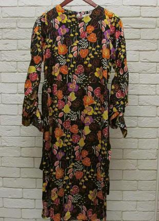 Миди платье  в роскошный принт -цветы mango7 фото