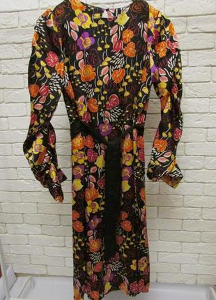 Миди платье  в роскошный принт -цветы mango4 фото