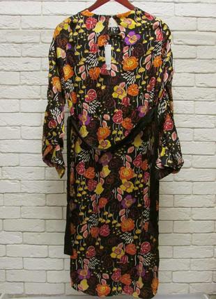 Миди платье  в роскошный принт -цветы mango9 фото