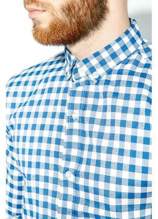 Рубашка мужская от culture . размер хл. благородная голубая клетка.