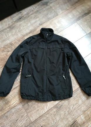 Черная демисезонная куртка утепленная флисом от george-xs-s