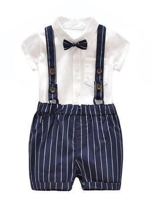 Набор рубашечка & шорты на лямках