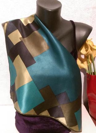 Натуральный шелк,шейный платочек,54*52,accessorize