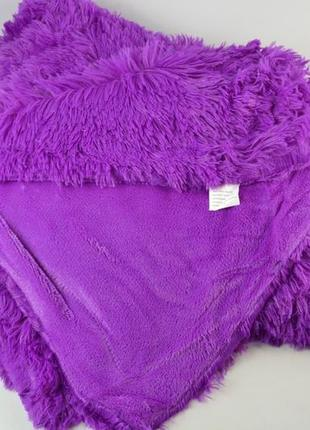 Плед травка евро 220х240 фиолетовый