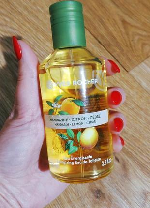 Туалетна вода мандарин-лимон-кедр 100 мл ів роше ив роше yves rocher