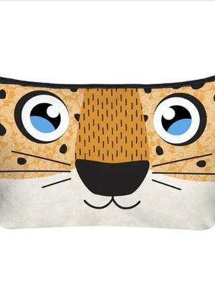 Новая забавная косметичка органайзер для косметики и разного леопард кот для девушки