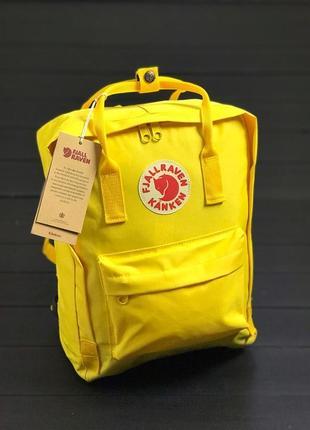 Рюкзак канкен fjallraven kanken сумка портфель желтый