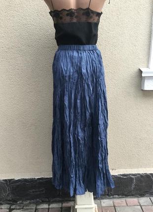 Легкая,воздушная юбка-жатка-плиссе,клёш,100%шелк,эксклюзив,collection,